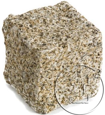 pave granit jaune éclates ou clivés