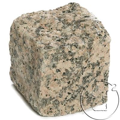 pave granit rose clivé