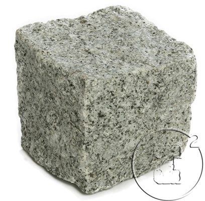pave granit gris éclate 10x10x10
